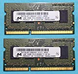 Micron 2GB RAM Kit 2x1GB DDR3 Memory PC3-8500 1066Mhz SODIMM Mt8jsf12864hz-1g1f1 (Certified Refurbished)