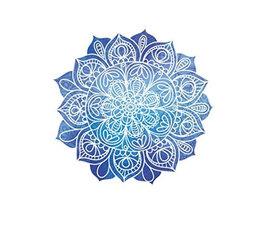Blue Lotus Mandala Vinyl Sticker, India Yoga Guru Sticker, T