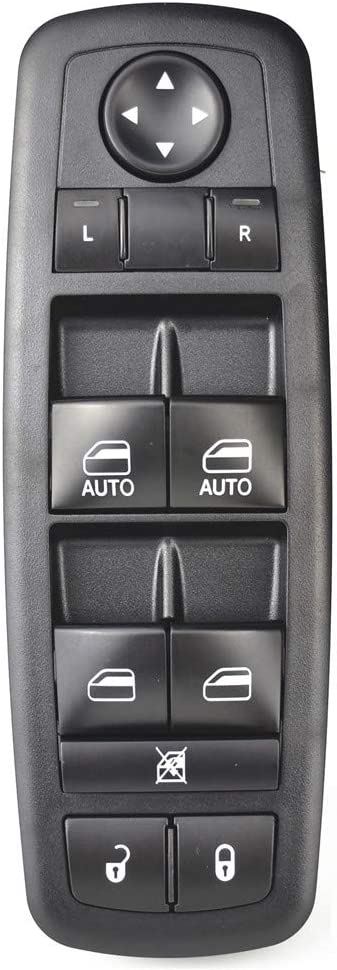 Front Left Driver Side Window Control Switch with Single Auto Down,OEM No:04602627AG Malcayang Power Master Window Switch for 2008-2011 Chrysler Town Country 2008-2011 Dodge Grand Caravan