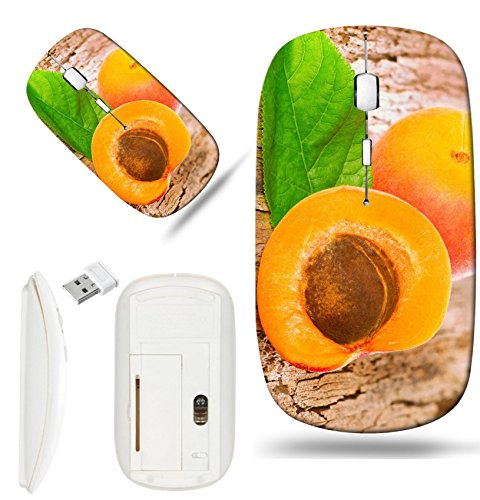 Juicy Apricot - Luxlady Wireless Mouse White Base Travel 2.4G Wireless Mice with USB Receiver, 1000 DPI for notebook, pc, laptop, macdesign IMAGE ID: 21587298 Fresh juicy apricots scattered on the wooden background