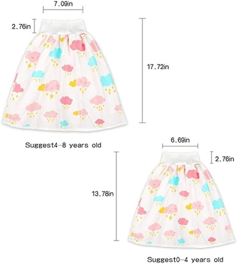 Baby Diaper Skirt Baby Toddler Baby Potty Training Pants Comfy Diaper Skirt Children Leak-Proof High Waist Belly-Protecting Diaper Skirt Breathable for Kids Toddler Cartoons Shorts