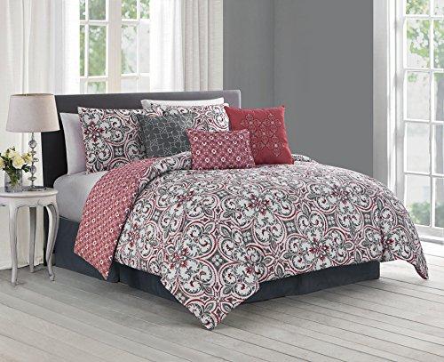 Spice Set Comforter Queen (Avondale Manor Regan 7-Piece Comforter Set, Queen, Spice)