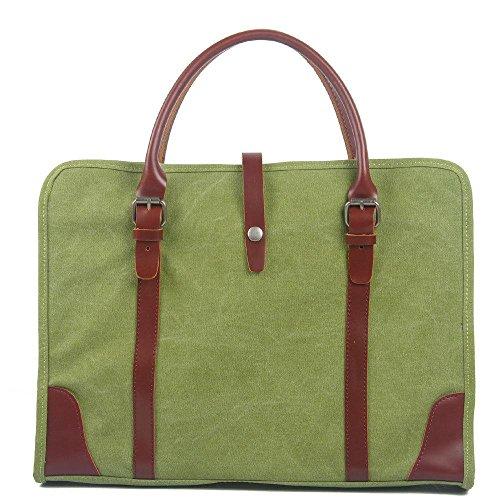 Marea La Paquete Coreana Bag Ocio Grass Maletín De Portátil Business Hombres Caqui Versión Messenger Green qvHFwP1