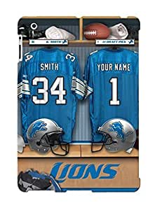 Crazylove Case Cover For Ipad 2/3/4 - Retailer Packaging Detroit Lions Nfl Football Protective Case