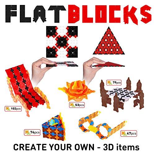 3D Puzzle of Flat... weofferwhatyouwant STEM Construction Building Flatblocks