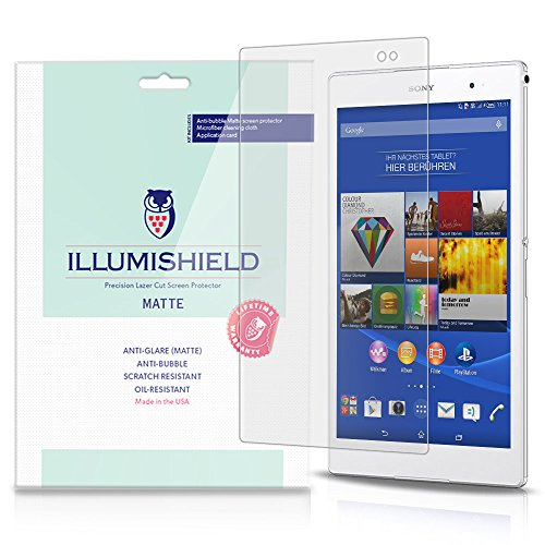 iLLumiShield Matte Screen Protector Compatible with Sony Xperia Z3 Tablet Compact (2-Pack) Anti-Glare Shield Anti-Bubble and Anti-Fingerprint PET Film (Xperia Tablet 2)