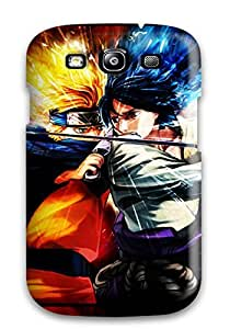 Tpu Case Cover For Galaxy S3 Strong Protect Case - Naruto And Sasuke Design