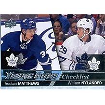 2016-17 Upper Deck #250 William Nylander/Auston Matthews Toronto Maple Leafs Hockey Card
