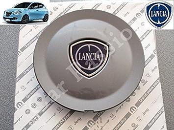 1 Coppetta Tapacubos Lancia Ypsilon Y A partir de 2011 Escudo original trago Tapón Llanta de aleación color gris antracita: Amazon.es: Coche y moto
