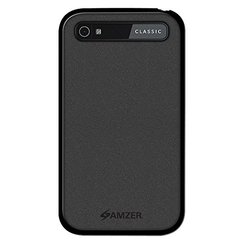 Amzer Pudding Soft Gel TPU Skin Fit Case Cover for BlackBerry Classic - Retail Packaging - Black