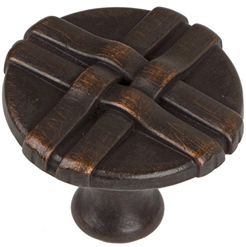 - GlideRite Hardware 1-1/4-inch Diameter Oil Rubbed Bronze Gift Weave Cabinet Knobs (Pack of 10)