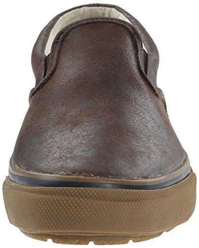 Brown Sperry 41 S Uomo Top Sider M o Leather EU Mocassini Striper Marrone qSHzArxq