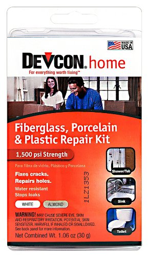 Devcon (90216-6PK) Fiberglass, Porcelain and Plastic Bathtub Repair Kit, (Pack of 6)