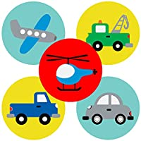 Transportation Sticker Party Favors Labels - Boy Girl Vehicle Birthday Baby Shower - Set of 50