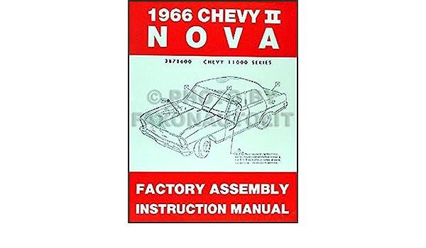CHEVY II NOVA 1966 Owner/'s Manual 66