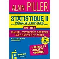 Statistique pour économistes : Manuel d'exercices corrigés avec rappels de cours Tome 2