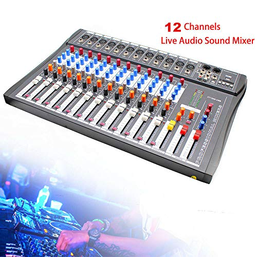 TFCFL CT-120S 12 Channel Professional Live Studio Audio Mixer USB Mixing Console Pro Audio Equipment Musical Instruments Gear from TFCFL