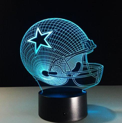 Football Helmet Light - Touch Control Football Helmet Light- Upgraded Color Changing Touch Light - Night Light for Boys Men Women - Perfect Gift for Football Sports Lovers (Dallas Cowboys)