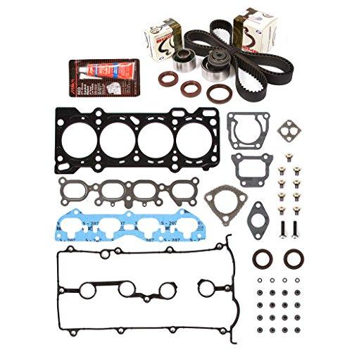 Evergreen HSTBK6030 Head Gasket Set Timing Belt Kit 00-03 Mazda 626 Progete 2.0 DOHC 16V FS ()