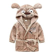 Kids Little Boys Girls Hooded Christmas Deer Pajamas Cartoon Animal Bath Robes