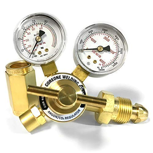 COREONE WELDING Argon/Carbon Dioxide (CO2) Victor Style Regulator with 6' Hose