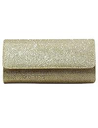 Nodykka Wedding Evening Party Clutch Bag Envelope Cross Body Handbag Bridal Purse