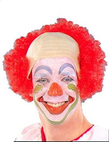 [OvedcRay Red Bowhead Clown Bald Cap With Wig Circus Clown Costume Wig Adult Bow Head] (Women's Clown Wig)