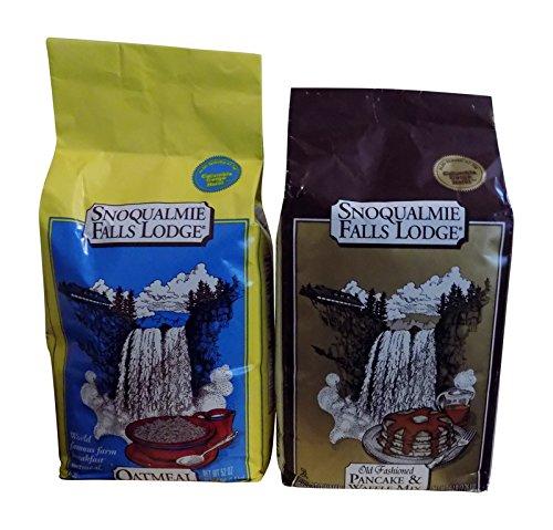 Snoqualmie Falls Lodge Bundle of 2 Oatmeal and Pancake Waffle ()