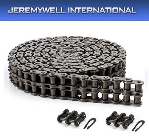 40-2 Duplex Double Strand Roller Chain 10 Feet with Connecting - Link Strand Chain