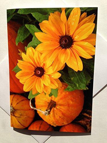 Thanksgiving Card - Harvest Season Card - Fall Floral Card - Autumn Card (Blonder Home Sunflowers)