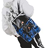 47635d0f7b08 UKXMNC Camouflage PU Backpack Men Casual Daily Travel Bag For 15