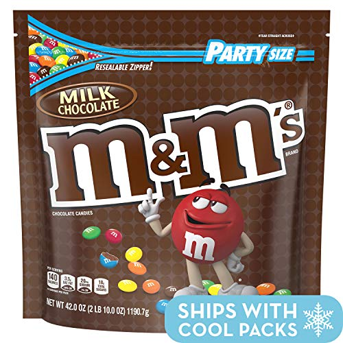 M&M'S Milk Chocolate Candy Party Size 42 oz Bag]()