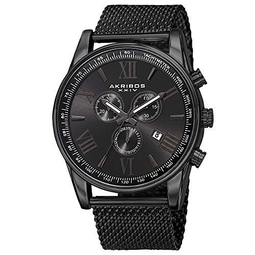 Akribos XXIV Men's AK885BK Quartz Multifunction Strap and Bracelet Watch Set by Akribos XXIV (Image #1)