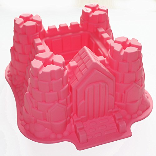 X-Haibei 3D Castle Bundt Cake Pan Chocolate Gelatinas Ice Cream Bakeware Silicone Mold