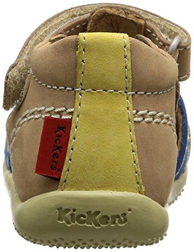 Kickers Bigbazar Baby Jungen Klassische Stiefel Beige - Beige (Beige/Bleu/Jaune)