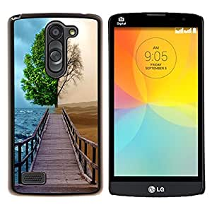 "Be-Star Único Patrón Plástico Duro Fundas Cover Cubre Hard Case Cover Para LG L Prime / L Prime Dual Chip D337 ( Diferente Árbol Temporada"" )"