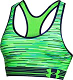 Under Armour Women's Mid Printed Sports Bra, Hyper Green (389)/Jazz Blue, Medium