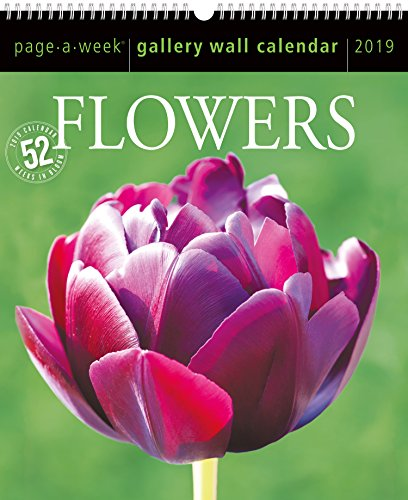 Flowers Page-A-Week Gallery Wall Calendar 2019