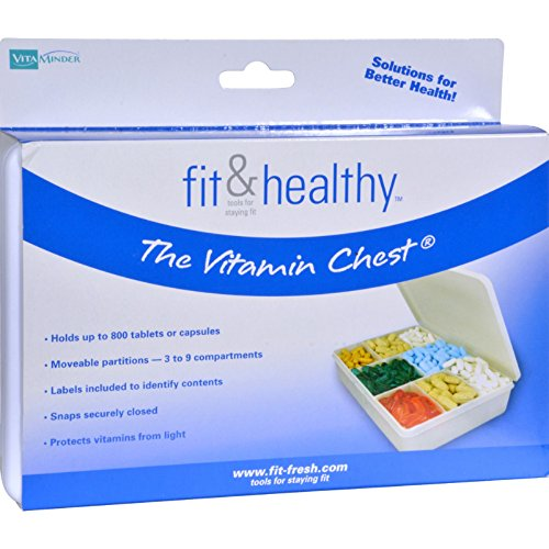 Fit and Healthy Vitamin Chest Organizer - 1 Unit - Holds up to 800 Tablets or Capsules