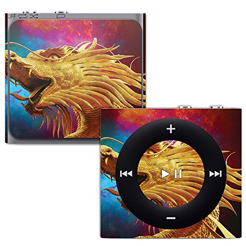 MightySkins Skin for Apple iPod Shuffle 4G - The Golden Dragon | Protective, Durable, and Unique Vinyl Decal wrap Cover | Easy to Apply, Remove, and Change Styles | Made in The USA (Silicone Protective Shuffle Case)