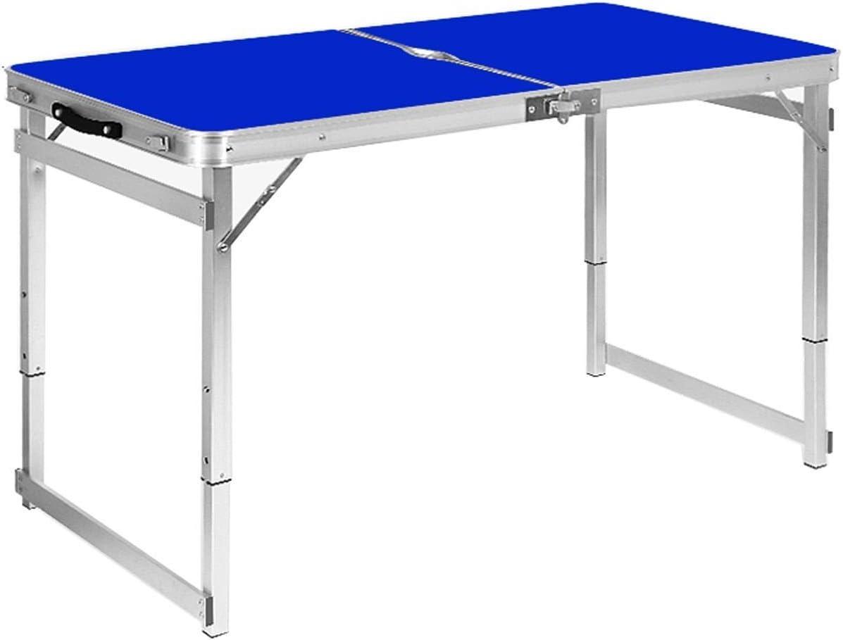 Mesa Plegable -GR Mesa de plegamiento casera Simple portátil al Aire Libre de la Parada de la Tabla Plegable, Estilo Opcional Mesa Plegable Portatil (Color : Azul, Tamaño : B): Amazon.es: Hogar