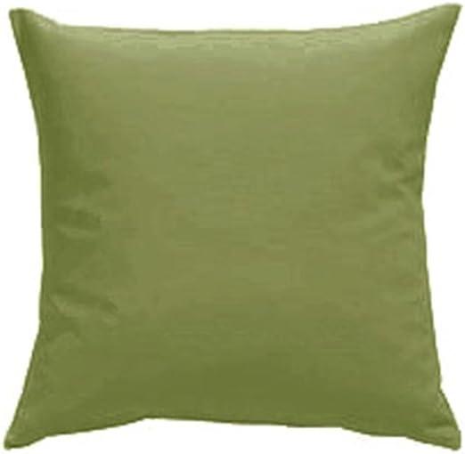 Funda de cojín con relleno Qooltex algodón 30 x 30 cm de zinc verde: Amazon.es: Hogar