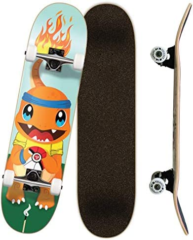Yocaher Punked Complete Skateboards 7.75 or Mini Cruiser or Micro Cruiser Shapes – Pika, Candy, and Chimp Series
