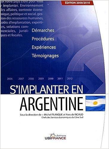 Téléchargement S'implanter en Argentine pdf epub