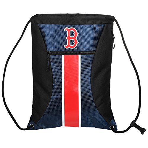 FOCO Boston Red Sox Big Stripe Zipper Drawstring - Sox Gift Red Bag Boston