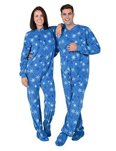 [Footed Pajamas - Its A Snow Day Adult Fleece - Extra Large] (Adult Footy Pajamas)