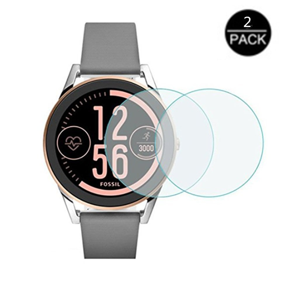 for Fossil Q Control Watch Screen Protector - [2pack] High Clear Smartwatch Tempered Glass Screen Protector for Watch Fossil Q Control,Q Control,q ...
