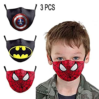 No-branded Superhero Face Covering Kid Reusable Protective Bandanas Anti-Dust Washable Cosplay Costume Accessories 2PCS