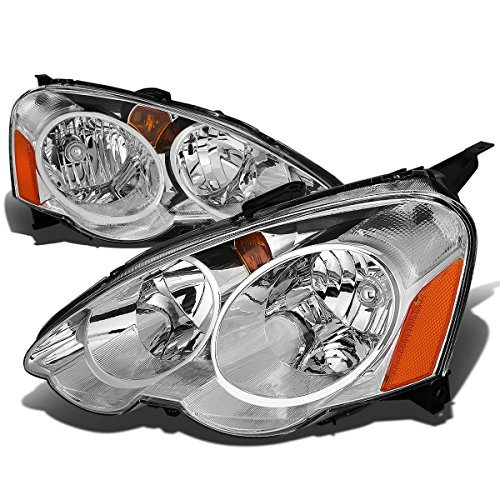 - For Acura RSX DC5 Pair Chrome Housing Amber Corner Headlight Kit