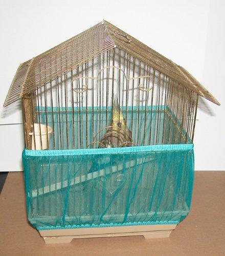 Sheer Guard Bird Cage Skirt – Large Size (Teal), My Pet Supplies